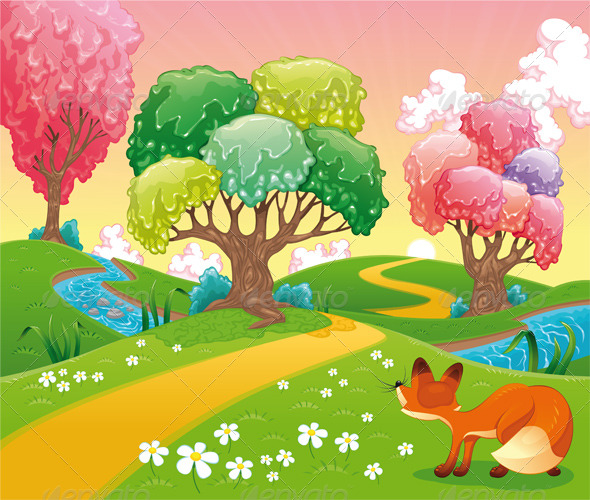 Fox in the wood - Animals Characters