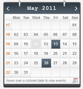 3C-Events : PHP AJAX Events Calendar