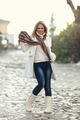 Winter Portrait of Beautiful Blond Young Woman - PhotoDune Item for Sale