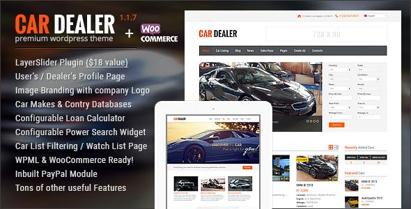Car Dealer v1.2.0 - Automotive Responsive WordPress Theme
