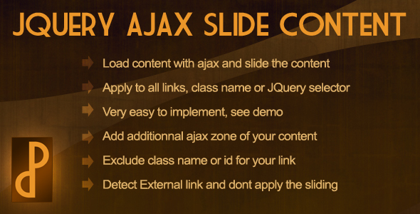 CodeCanyon JQuery Ajax Slide Content 179130