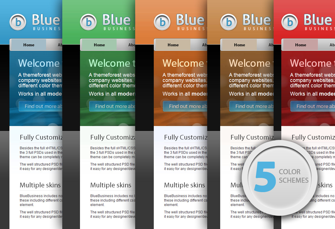 Blue Business - Business Theme - 5 Color Schemes
