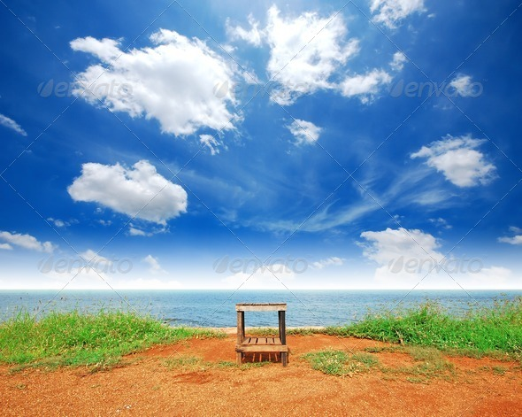 alone chair - Stock Photo - Images