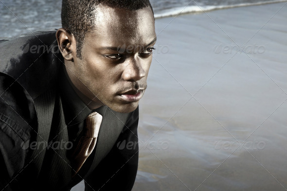 african american man in suit - Stock Photo - Images