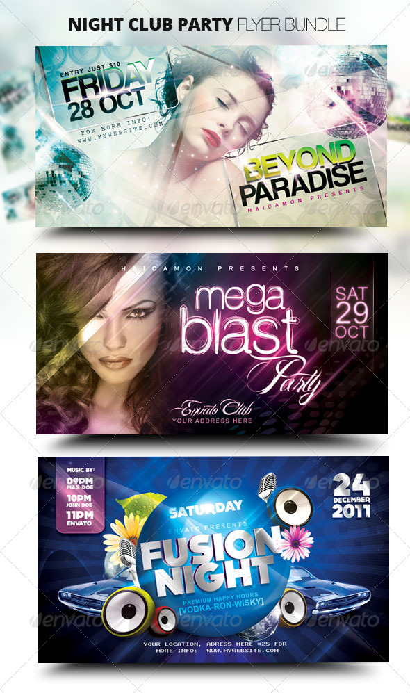 Night Club Party Flyer Bundle - Clubs & Parties Events