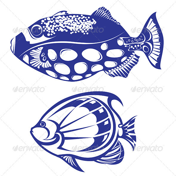 Graphic River Tropical Fish Vectors -  Characters  Animals 1518805