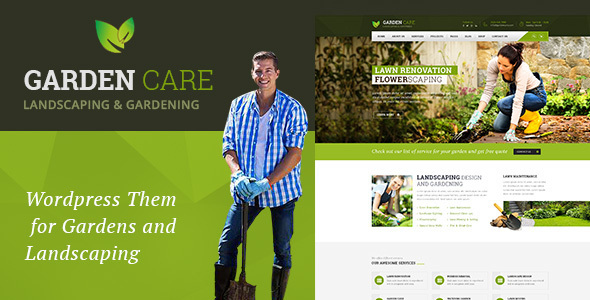 Garden Care Gardening and Landscaping WordPress Theme by