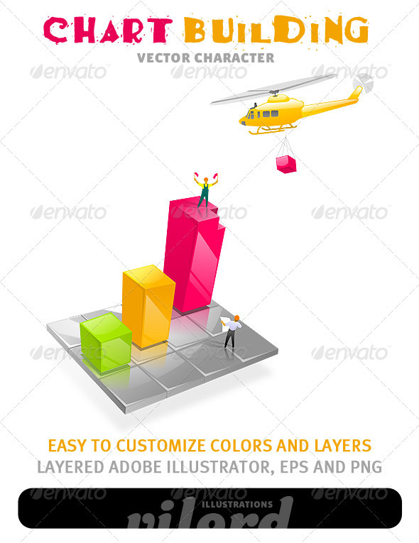 Chart Building Illustration - Concepts Business