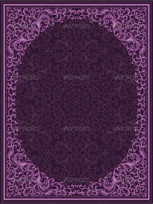 Graphic River Vintage floral frame Vectors -  Decorative  Borders 179567