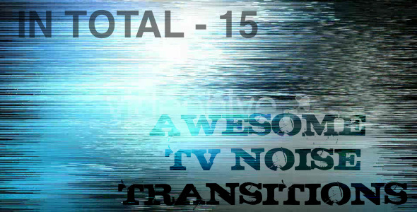 After Effects Project - VideoHive TV noise Transitions 1520978