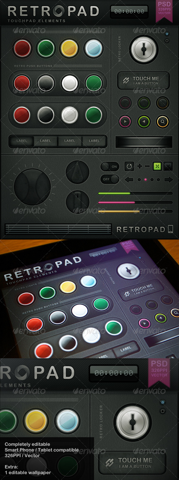 GraphicRiver Retropad Touch User Interinterface 180014
