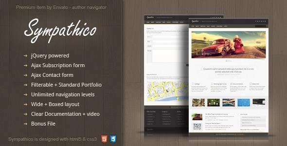 ThemeForest Sympathico multipurpose site template 1523370