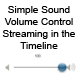 Simple Sound Volume Control - ActiveDen Item for Sale