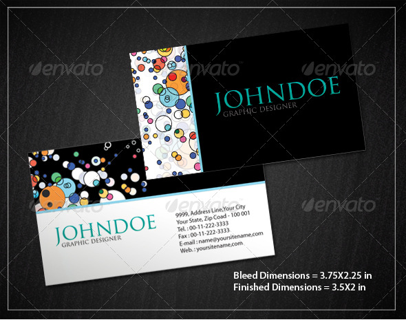Bubble Pattern Business Card Set - Creative Business Cards