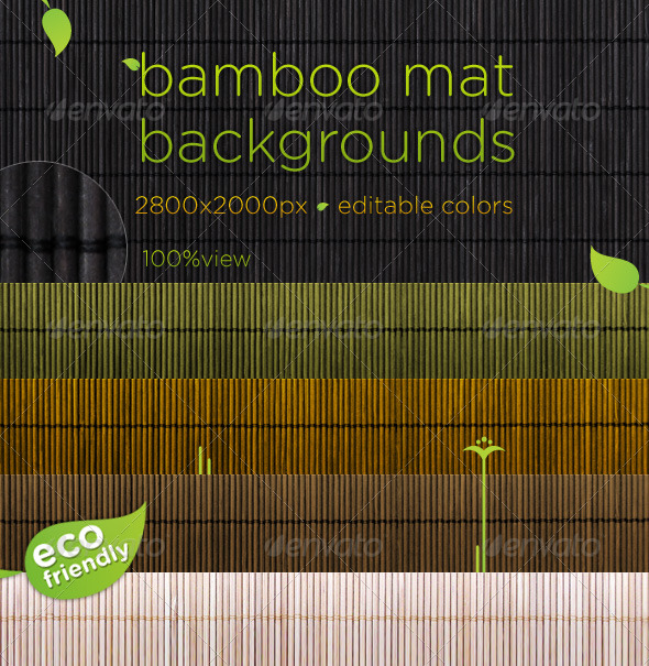Bamboo Mat Natural Backgrounds GraphicRiver - Textures -  Wood 180201