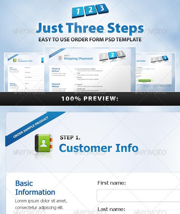 GraphicRiver Just Three Steps 180310