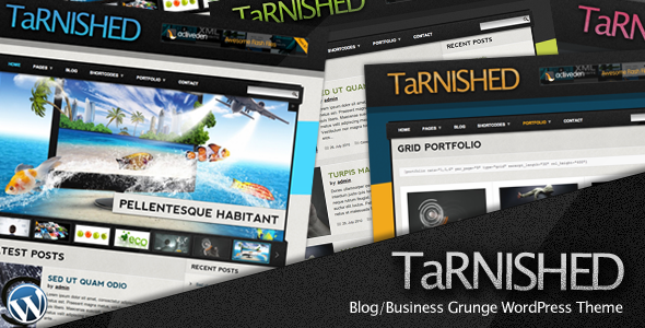 ThemeForest Tarnished Blog Business Grunge WordPress Theme 162472