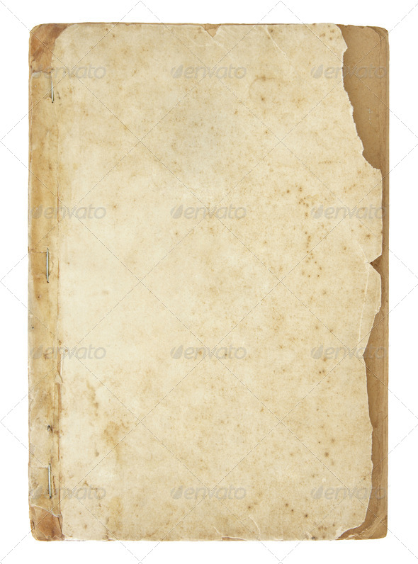 old book pages isolated on white - Stock Photo - Images