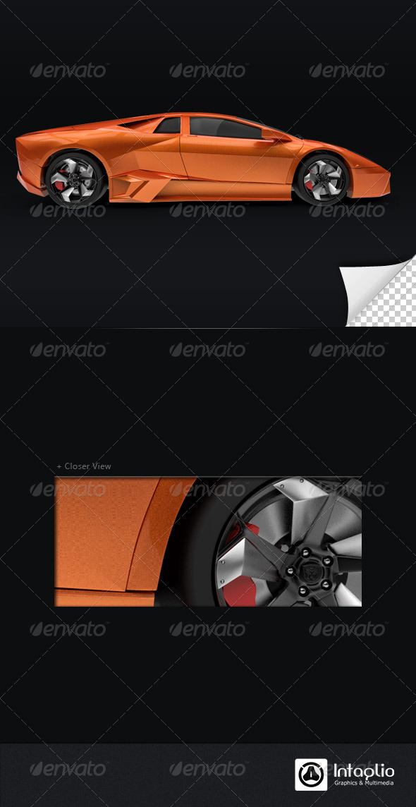 GraphicRiver Orange Car 3D Render 001 1528500
