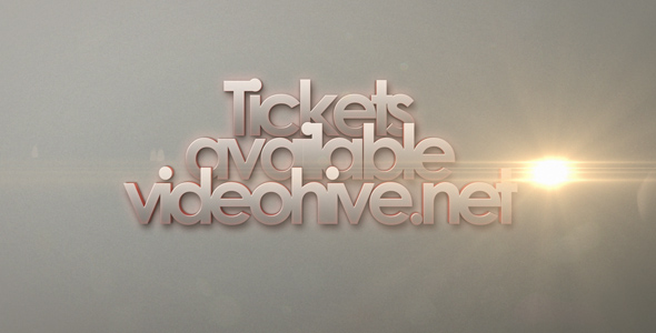 After Effects Project - VideoHive Stylish Text and Logo Project 180454