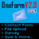 OneForm : Dynamic Multipurpose Flash Contact Form - ActiveDen Item for Sale