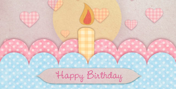 After Effects Project - VideoHive Happy Birthday Card 180512