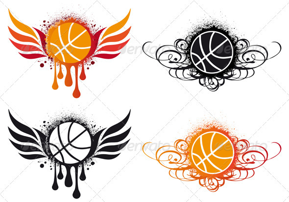 basketball drawing with wings the image kid has it. Black Bedroom Furniture Sets. Home Design Ideas