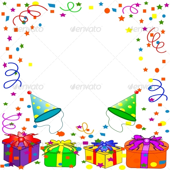 Graphic River Happy Birthday background Vectors -  Conceptual  Seasons/Holidays  Birthdays 60278