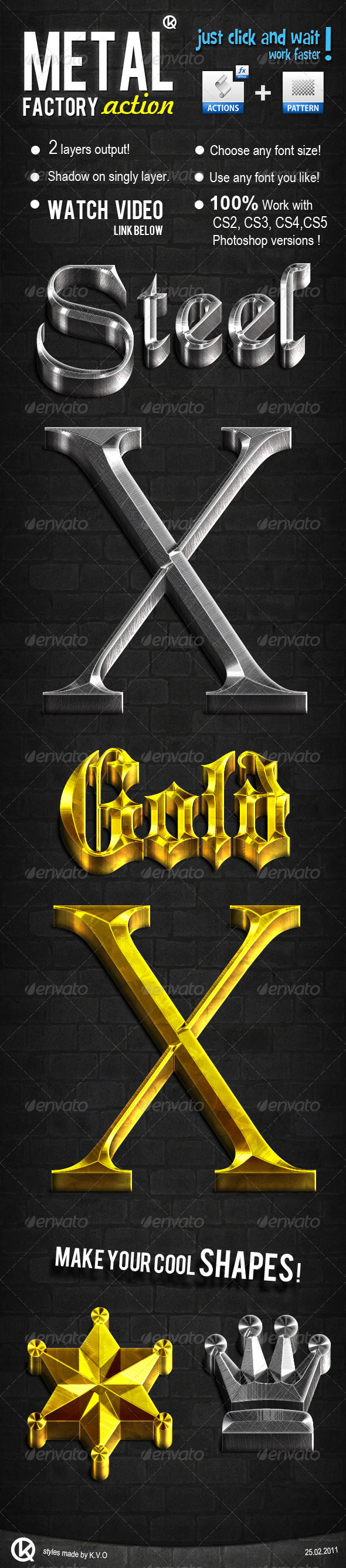 GraphicRiver 3D Gold & Steel 180619