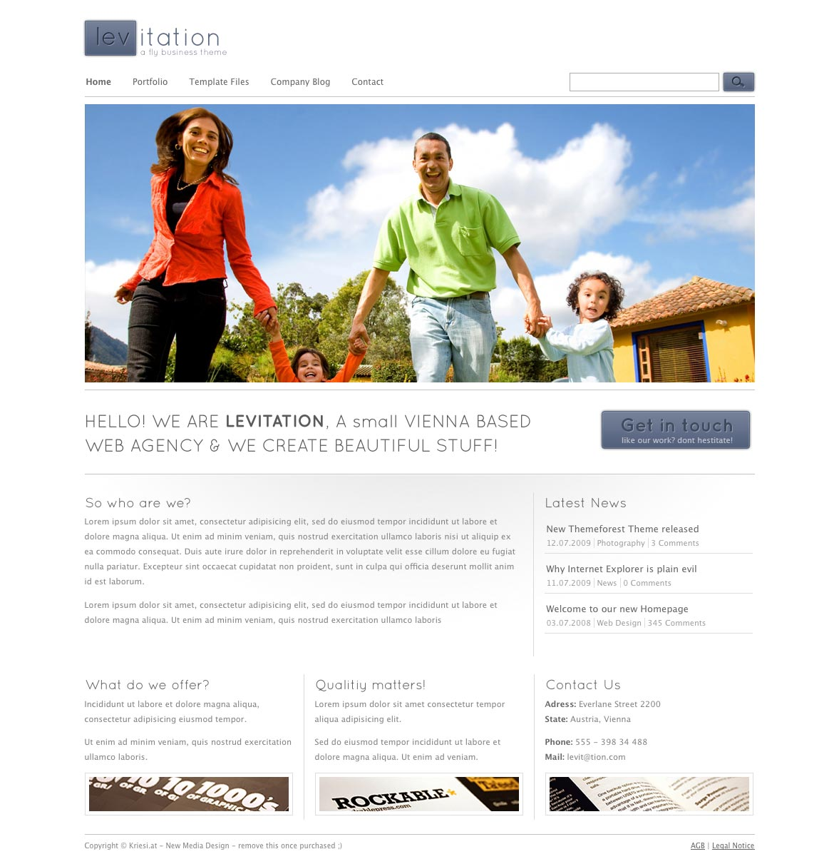 Levitation Wordpress Business & Portfolio - 4 in 1
