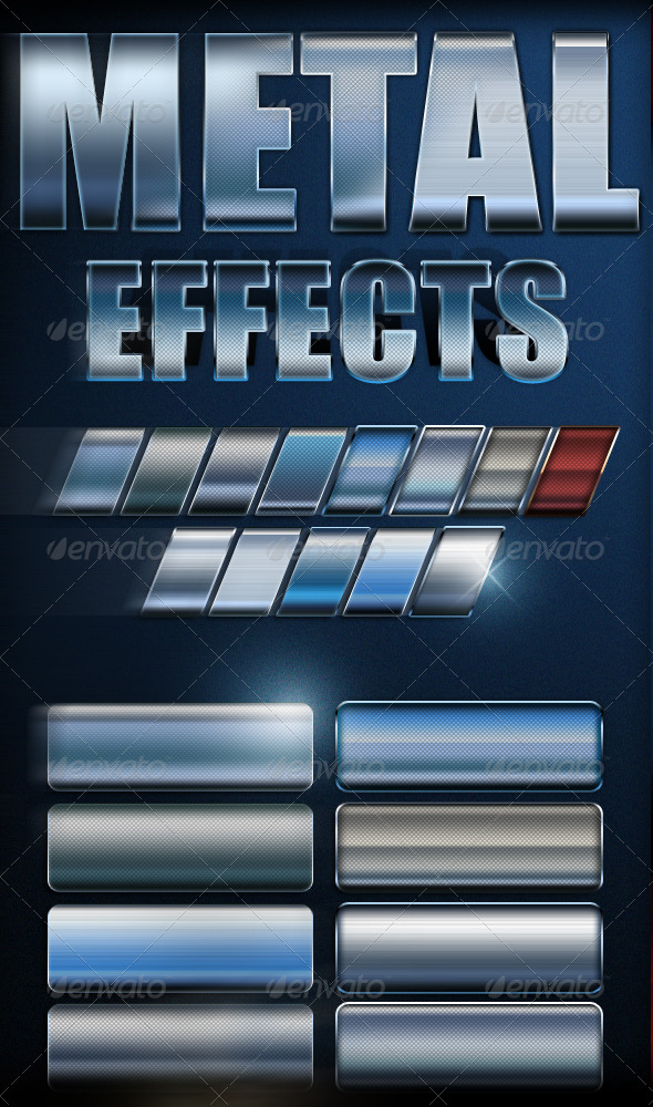 GraphicRiver Premium Metal Text Effects 180954
