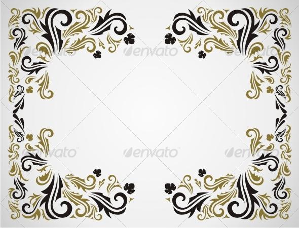 GraphicRiver Grunge floral frame 60484