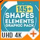 Shapes &  Elements Graphic Pack 几何形状变化动画AE模板下载
