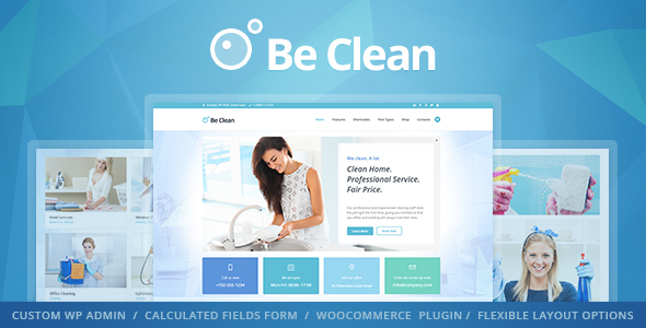 Be Clean - Cleaning Company, Maid Service & Laundry WordPress ...