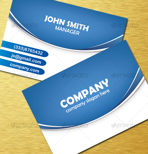 Modern Blue Vector Card - Creative Business Cards