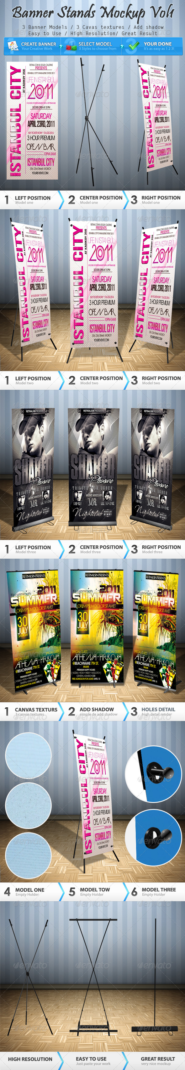 Banner Stands Mock-up Volume 1 - Signage Print