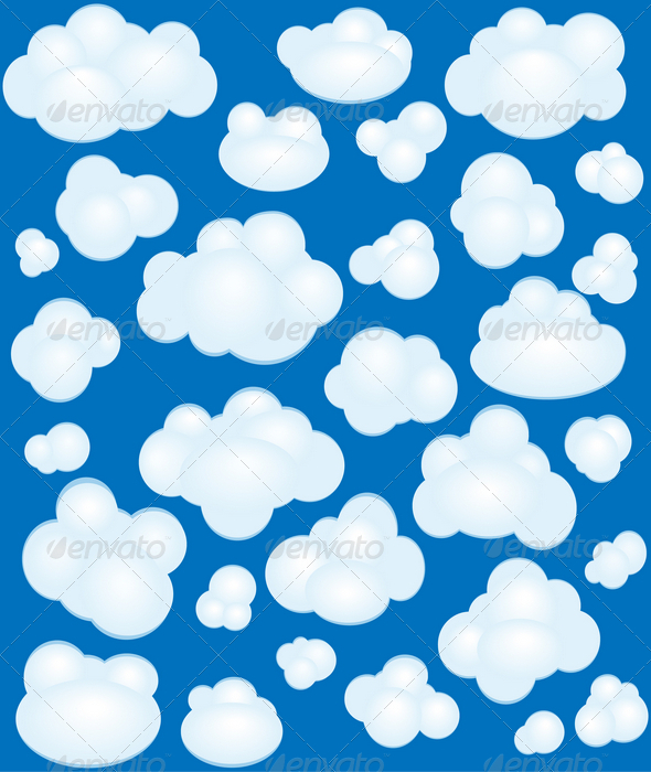 GraphicRiver Cartoon clouds set 1537951