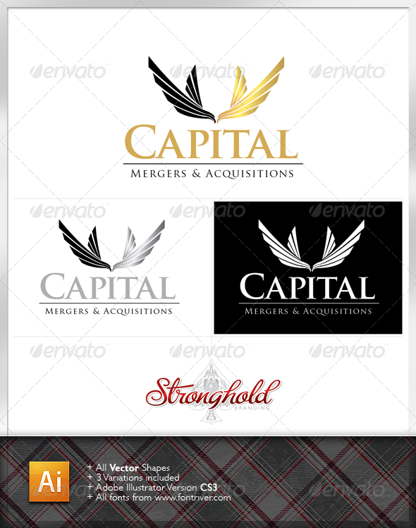 Graphic River Capital Mergers Logo Logo Templates -  Crests 1539746