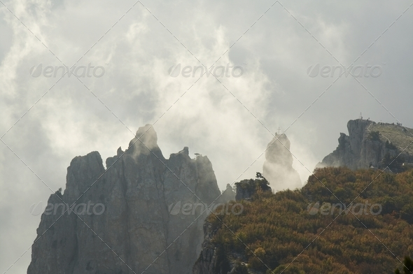 Mist in the mountain - Stock Photo - Images