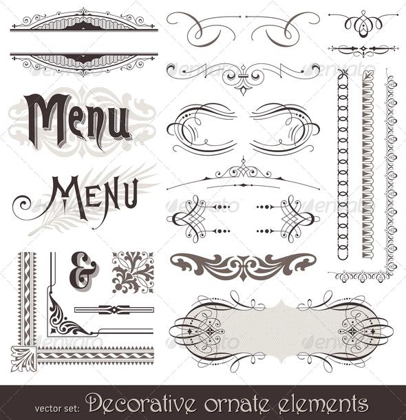 GraphicRiver Ornate Design Elements & Calligraphic Page Decor 1500755