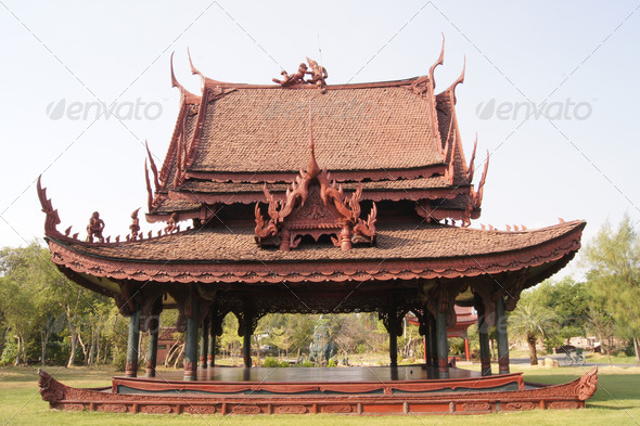 Ancient art, tourist destinations in Thailand. - Stock Photo - Images