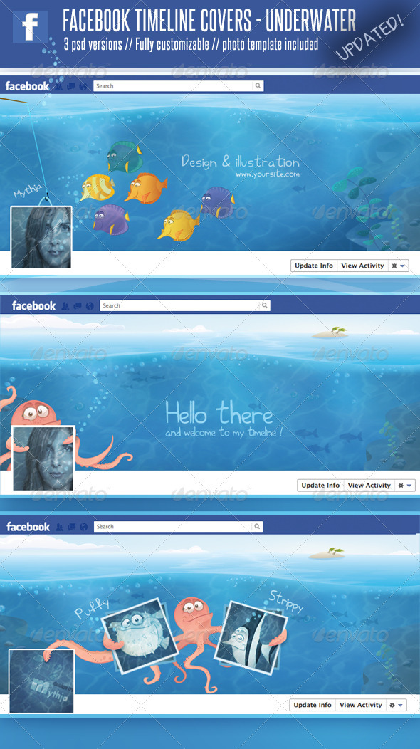 3 Facebook Timeline Covers  Underwater World - Facebook Timeline Covers Social Media