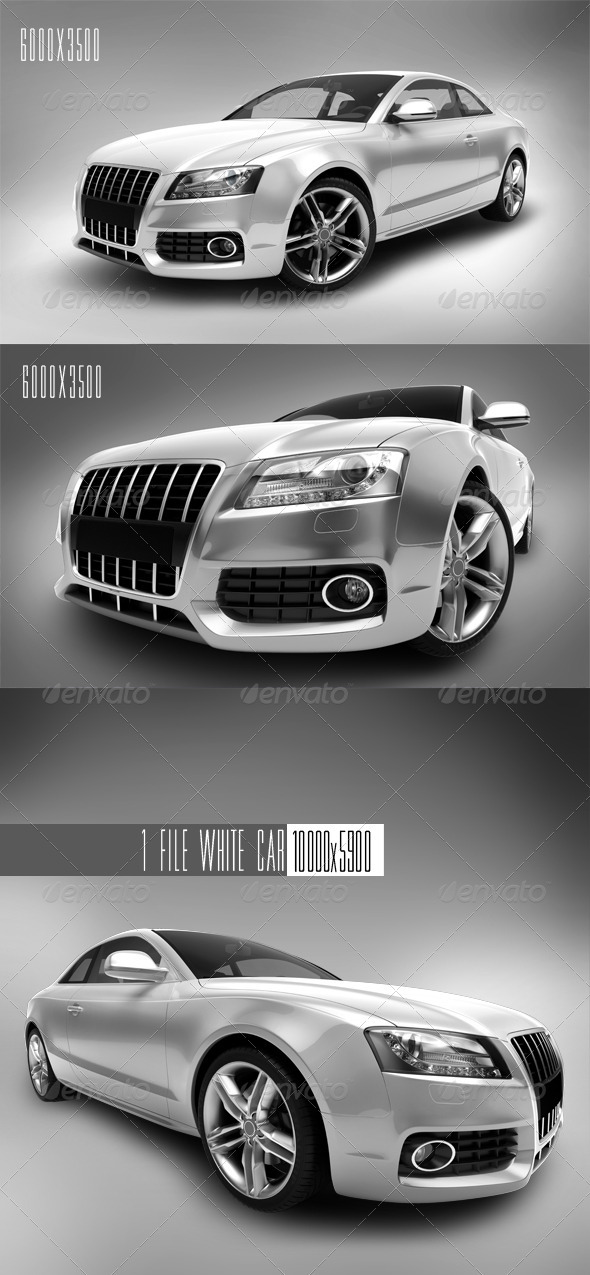 GraphicRiver White Car 1 1501595