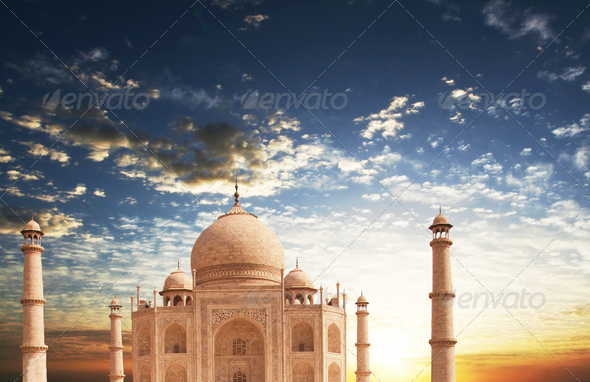 Taj Mahal - Stock Photo - Images