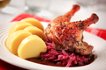 Roast duck, red cabbage and potato dumplings - PhotoDune Item for Sale
