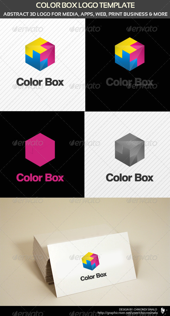 Color Box Logo Template - Abstract Logo Templates