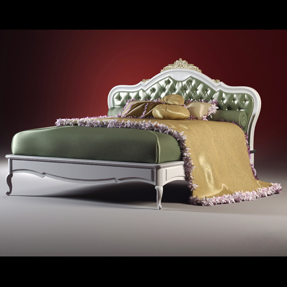 3DOcean High quality model of classic bed 1553945
