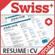 3-Piece Swiss Style Resume set
