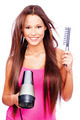 woman blow dryer and comb - PhotoDune Item for Sale