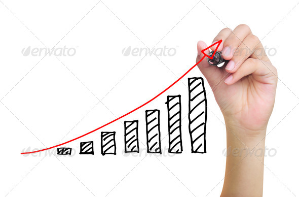 PhotoDune hand drawing business graph 1556859
